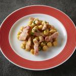 ひよこ豆とパンチェッタ