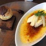 王様のフレンチ - クリームブリュレとガトーショコラにシューのデザート