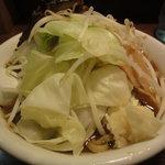 秋葉らーめん 松風 - 松風パンチ\780 + 野菜 \100 + 大盛\30