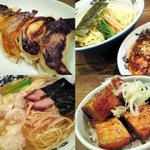 """松波ラーメン店 - """"焼ギョーザ"""" """"ツケ麺"""" """"ワンタン麺(海老入り)"""" """"角煮ごはん"""""""