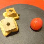 壱 - 鳥レバーのパテ 生の黒コショウ ミニトマトの白ワイン煮