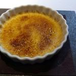 レストラン・カワサキ - 卵とシナモンのクレームブリュレ