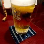 居酒屋じゅげむ堂 - 中生ビール