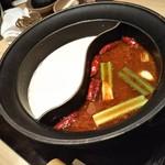 90843475 - 豆乳鍋&麻辣肉鍋。