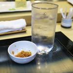 すし物語季の風 - 芋の水割り(銘柄失念)