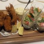 洋食 Matsushita - 5000円コース(税込み)海老フライ・牡蠣フライ