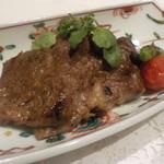 5000円コース(税込み)黒毛和牛ロース網焼きステーキ