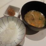 洋食 Matsushita - 5000円コース(税込み)ご飯・豚汁・梅干し