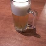 溶岩鶏焼 鶏ひろば - ドリンク写真:まずは生ビール