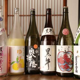 厳選日本酒に焼酎、地元ワインなど種類豊富なドリンク◎