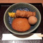鳥焼き・蕎麦・おでん 一重 - おでん 5種盛り合わせ 626円(税込)