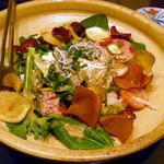 たべごと屋のらぼう - 地野菜と豆腐のサラダ