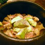 たべごと屋のらぼう - ベーコンとアボカドの土鍋ごはん