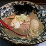 洛二神 - 【(限定) もろ『煮干そば』 + 味付玉子】¥800 + ¥100