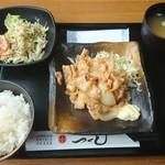 つくし - 生姜焼き定食@750