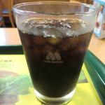 モスバーガー - アイスコーヒー:110円