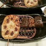 雲仙 - 料理写真:レンコンの挽肉詰め(カレー風味)とスジこん