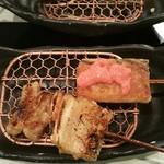 雲仙 - 料理写真:豚バラと湯葉巻きに明太ソースを乗せたもの