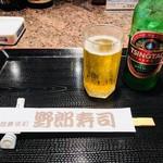 野郎寿司 - チンタオで乾杯!