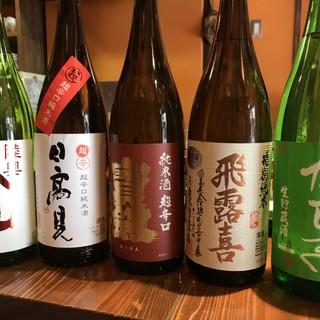 季節・旬魚に合わせたこだわりの日本酒をご提供いたします