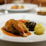 Restaurant ALADDIN - 鶉にリィドヴォー、豚足、木の子、もち米を詰めて