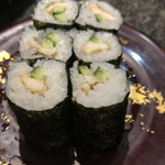 回転寿司 魚浜 - 穴きゅう細巻き 300円
