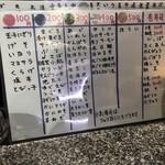 回転寿司 魚浜 - にぎりメニュー