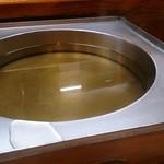 90868417 - しゃぶしゃぶのお鍋に出汁が入りました♪