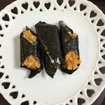 堂本 - これは醤油、海苔がパリパリで香りがいいんです!