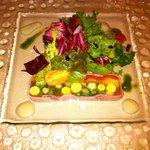 9087432 - 前菜 野菜のジュレのプロシュート巻き?