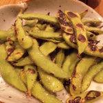 和み酒 帆凪 - 焼き枝豆