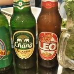 999 - タイのビールたち&1名パクチーサワー(笑)