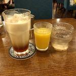 90875102 - アイミとオレンジジュースと水
