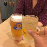 90876698 - H.30.7.7.昼 ハイボール 400円税込 vs 生ビール 380円税込 de 乾杯♪