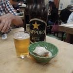 大衆割烹 三州屋 - 大瓶ビール750円はお通し付き