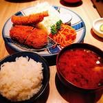 90884704 - 海老盛り定食(ヒレカツと海老フライ)
