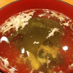 和ガリコ - このスープは個人的に好きになった。自分でとるのには苦労するけど(^^;