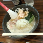 麺屋時茂 - 鶏白湯ラーメン(醤油)(850円)