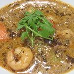 curry DELHI グルメ - 南インド風海老と野菜のココナッツカレー@¥770