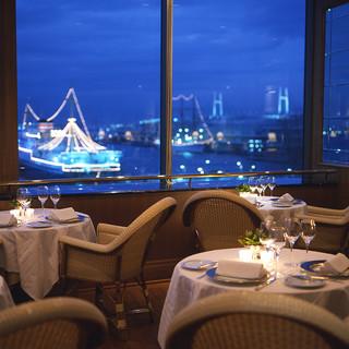 【横浜港を一望】夜景を眺めながら味わう美食フレンチレストラン