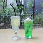 ANAクラウンプラザホテル大阪 ロビーラウンジ - レモンスカッシュ&クリームソーダ