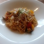 ST.HUBERTUS - サラダランチの「シチリア風カポナータとモッツアレラチーズ添え」