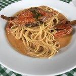 アダージオ - 料理写真:渡りカニのトマトクリームスパゲティー二