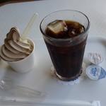 館山中村屋 - (2018/6月)モカソフトとアイスコーヒー