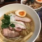 90897969 - 特製岡吹焼豚麺とかたぶつ丼
