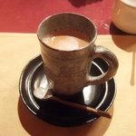 インド料理 想いの木 - マサラチャイ(530円) ※東銀座CaliCariの頃の画像です。