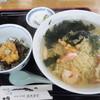 波光食堂 - 料理写真:磯らーめん+ミニ生うに丼