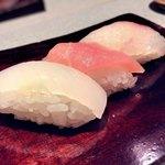 日々魚数寄 東木 - 寿司3貫…黒鯛、カジキ、アカイカ