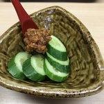 天ぷら はせ川 - もろ胡瓜