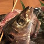 お肉とお魚 まつり - アジ顔面アップや~!
